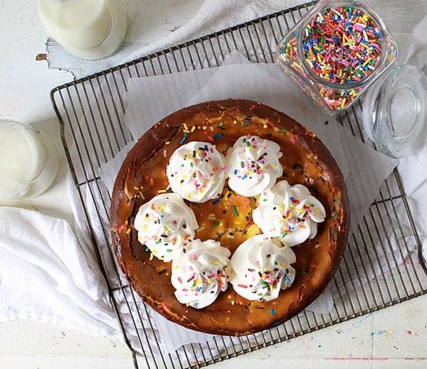 White Chocolate Confetti Cheesecake!
