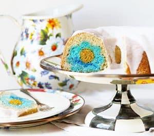 Vanilla Bundt Cake with Vanilla Frosting