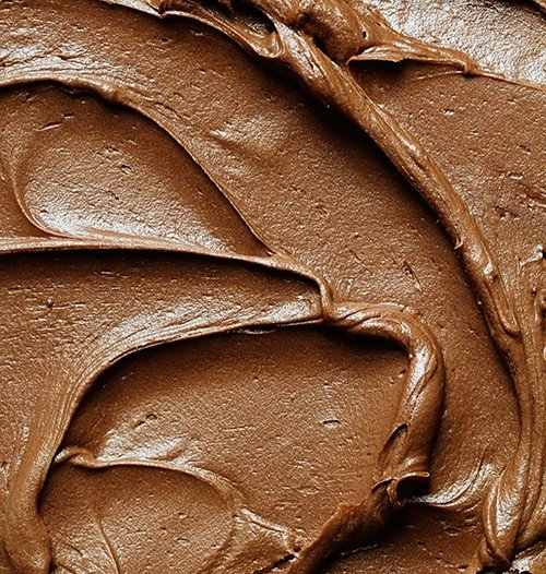 Secret Ingredient chocolate frosting!