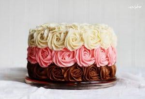 Neapolitan Rose Cake!