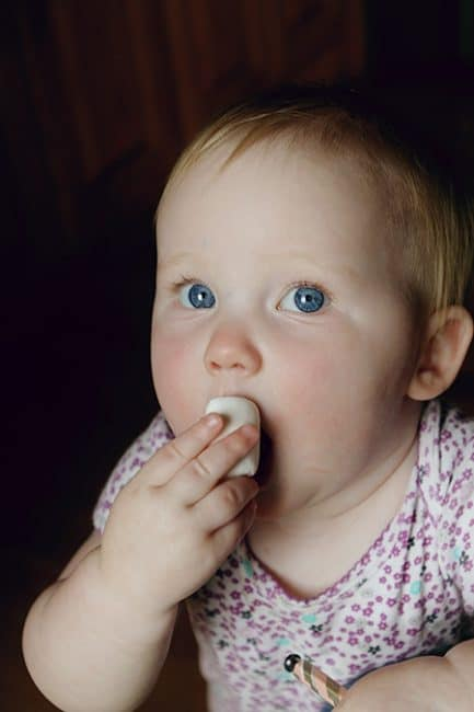 Olivia and her First Marshmallow