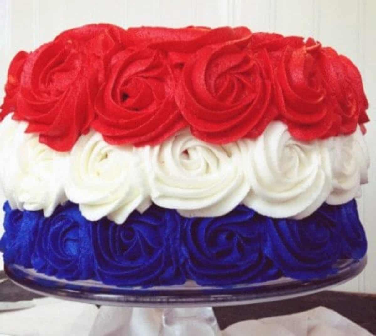 Cool Patriotic Rose Cake Video Tutorial I Am Baker Funny Birthday Cards Online Fluifree Goldxyz