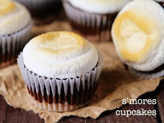 s'mores cupcakes! #chocolate #summerdesserts