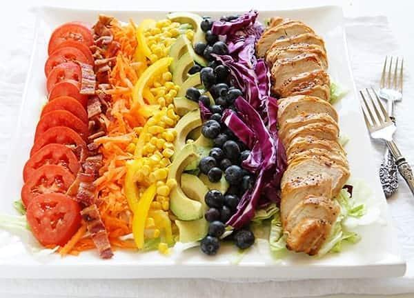 Grilled Chicken Rainbow Cobb Salad!