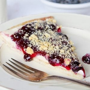 Rustic Blueberry Dessert Pizza!