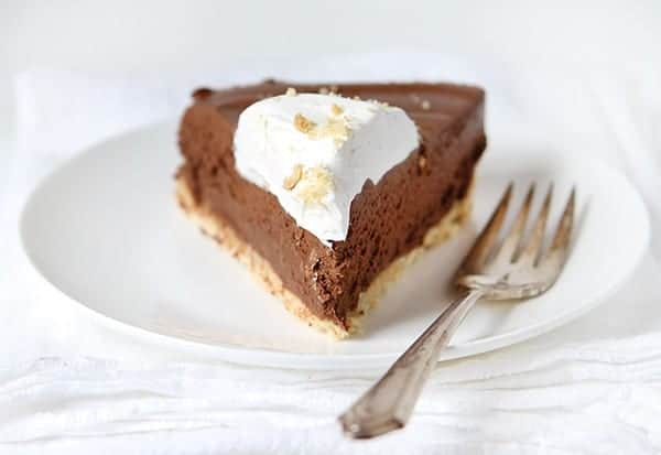 Seriously rich chocolate pie!