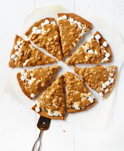 Peanut Butter Marshmallow Butterscotch Dessert Pizza!