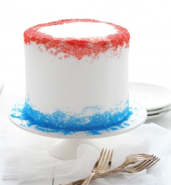 Patriotic Cake surprise inside cake i am baker