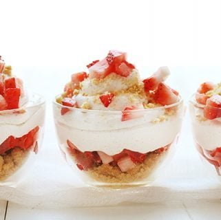 "Strawberry ""Shortcake"" Mousse Cups"