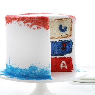 Patriotic Cake {surprise inside cake}