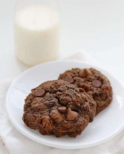 Double Chocolate Zucchini Cookies!
