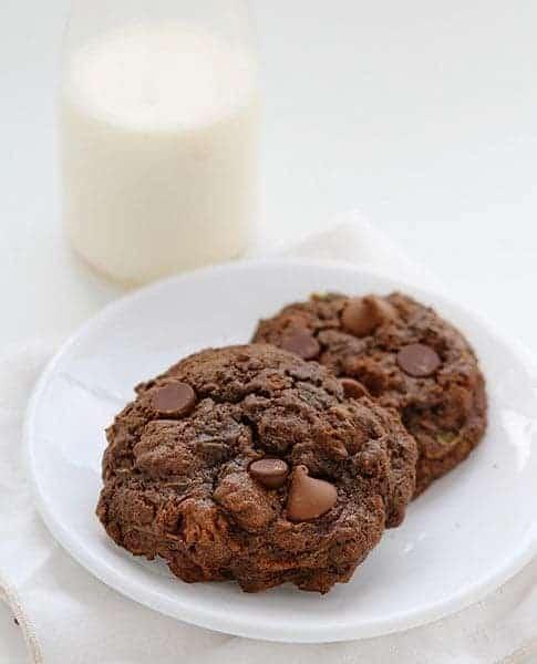 Double Chocolate Zucchini Cookies!