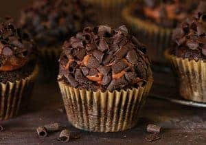 Double Chocolate Zucchini Cupcakes