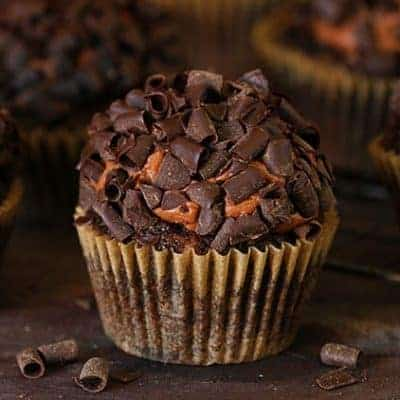 Double Chocolate Zucchini Cupcakes with Chocolate Frosting