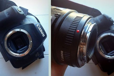 How to insert a lens for a DSLR camera