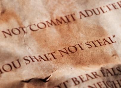 Eight commandment, thou shalt not steal