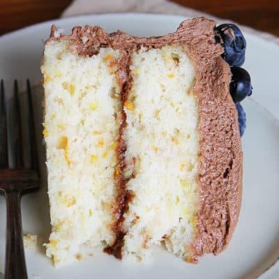 White Cake with Zucchini