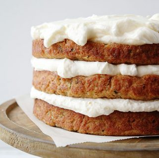 Zucchini Banana Cake with Whipped Cream Cheese Frosting