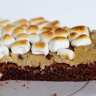 brownie cookie dough pie
