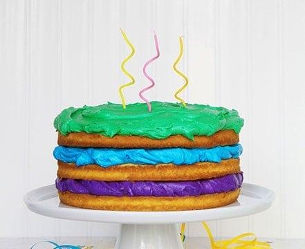 happy birthday! {naked cake}