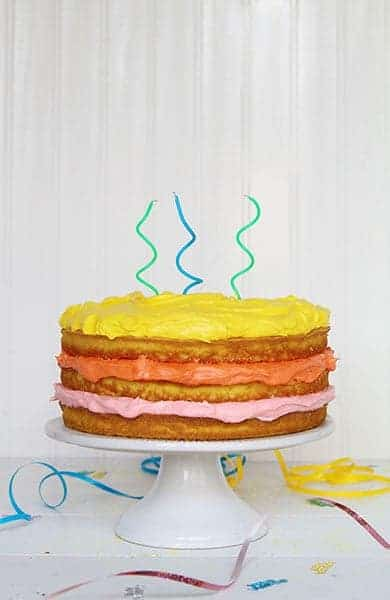 A Naked Cake in honor of all the September Birthdays!