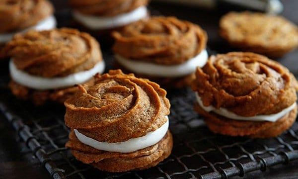 pumpkin rose cookies