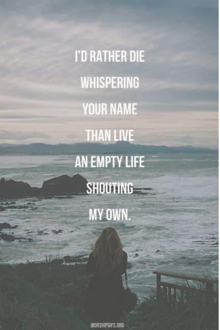 whispering your name Jesus