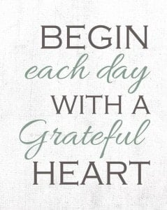 Begin Each Day...