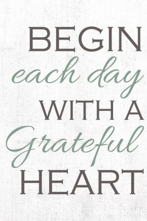 Begin Each Day...