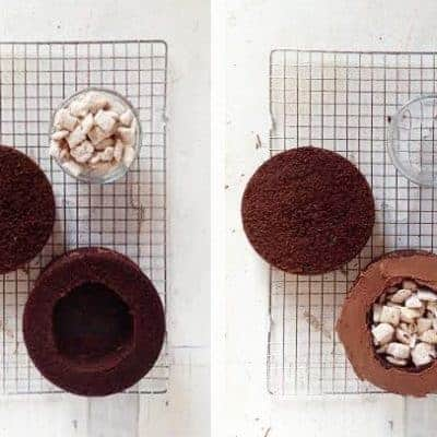 Puppy Chow Surprise Inside Cake HOW TO