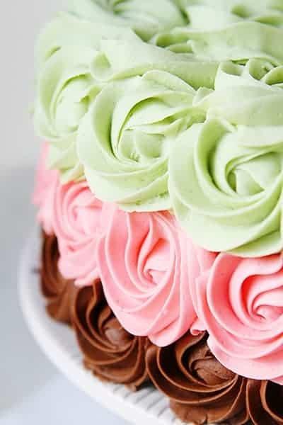 Spumoni Rosette Cake!