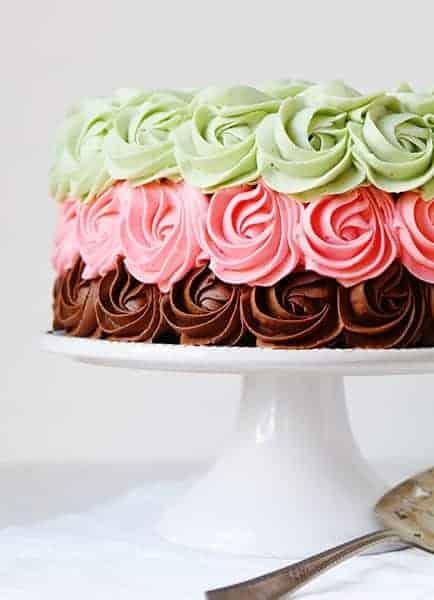 Spumoni Rose Cake!