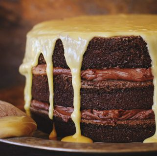bourbon chocolate tipsy cake