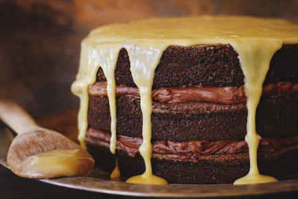 Bourbon Chocolate Tipsy Cake!