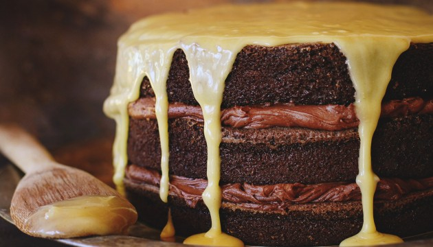 bourbon chocolate tipsy cake (and a contest)