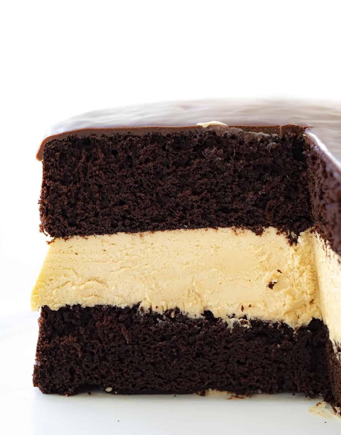 Cut Into Biscoff Buckeye Cake