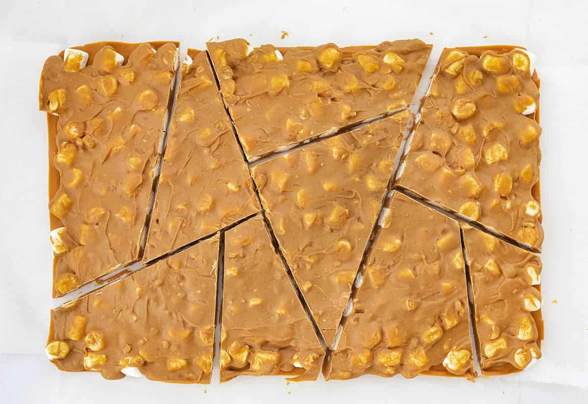 Peanut Butter Butterscotch Bark from Overhead