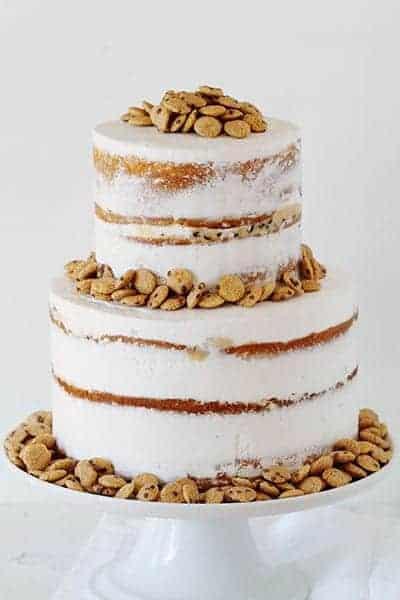 Cookie Crisp Naked Cake!