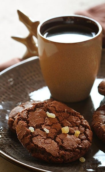 Chocolate Caramel Ginger Cookies!