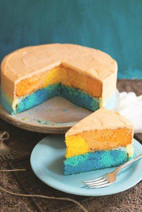 Sunset Surprise-Inside Cake!