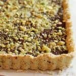 chocolate pistachio and ginger tart