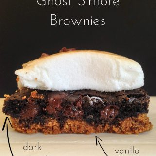 Ghost S'more Brownies