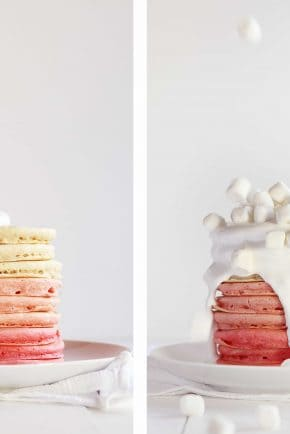 Ombre Pancakes!