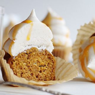 spice cupcakes with eggnog buttercream