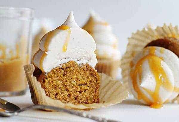 Spice Cupcake with Eggnog Buttercream and Caramel Drizzle!