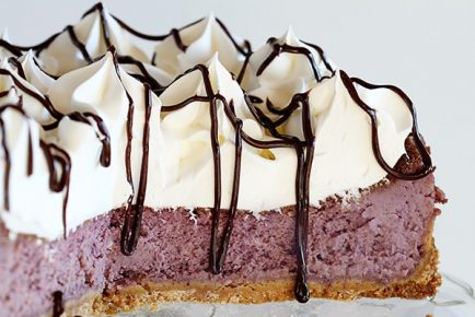 Real Blueberry Cheesecake with Shortbread Crust!