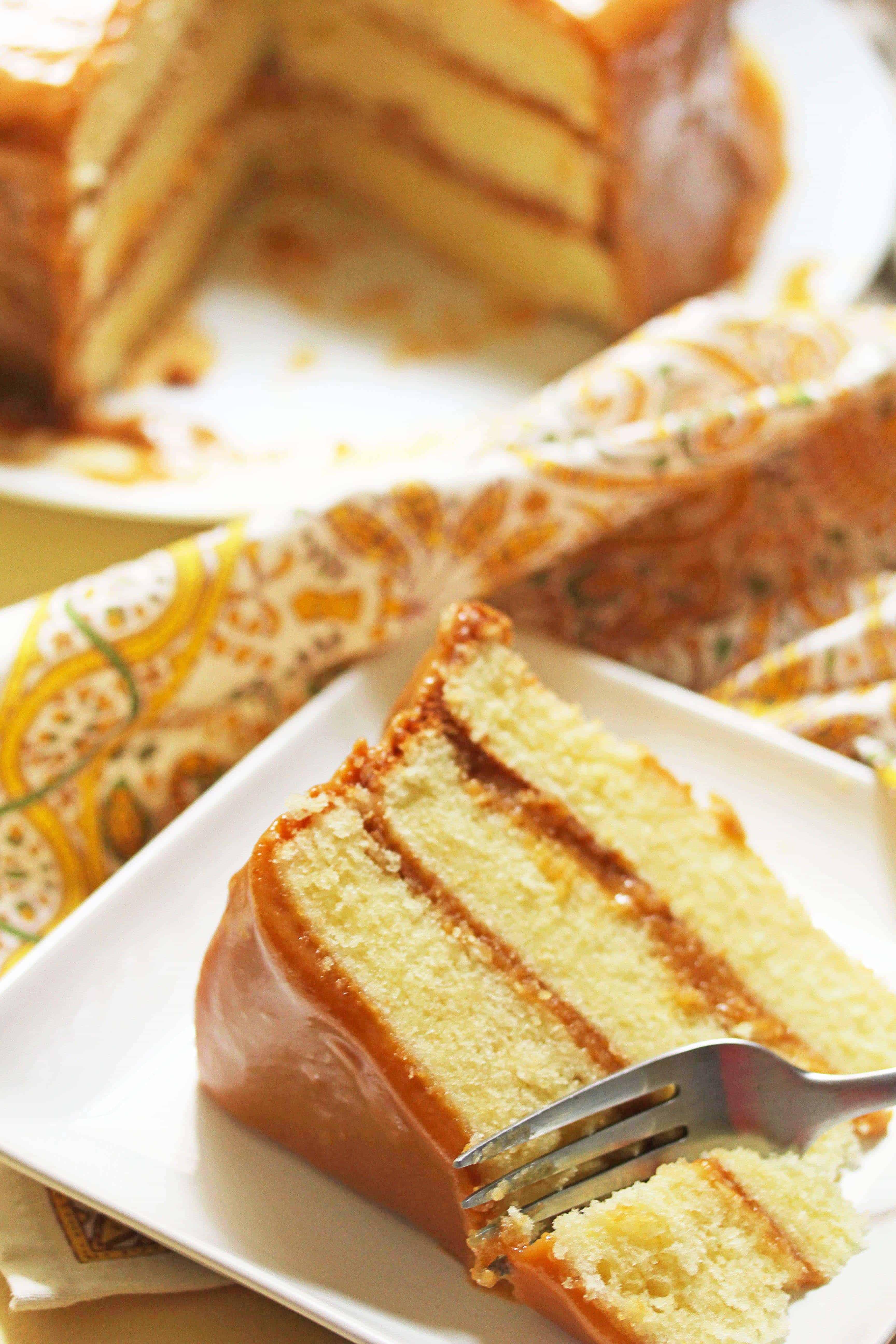 Caramel Cake I Am Baker