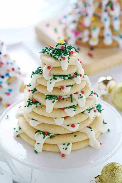 Christmas Tree Cookie Stack! An easy and delicious recipe and how-to!