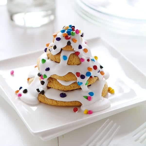 Christmas Tree Cookie Stack!