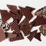 2 ingredient decorative chocolate bark~ easy and delicious!